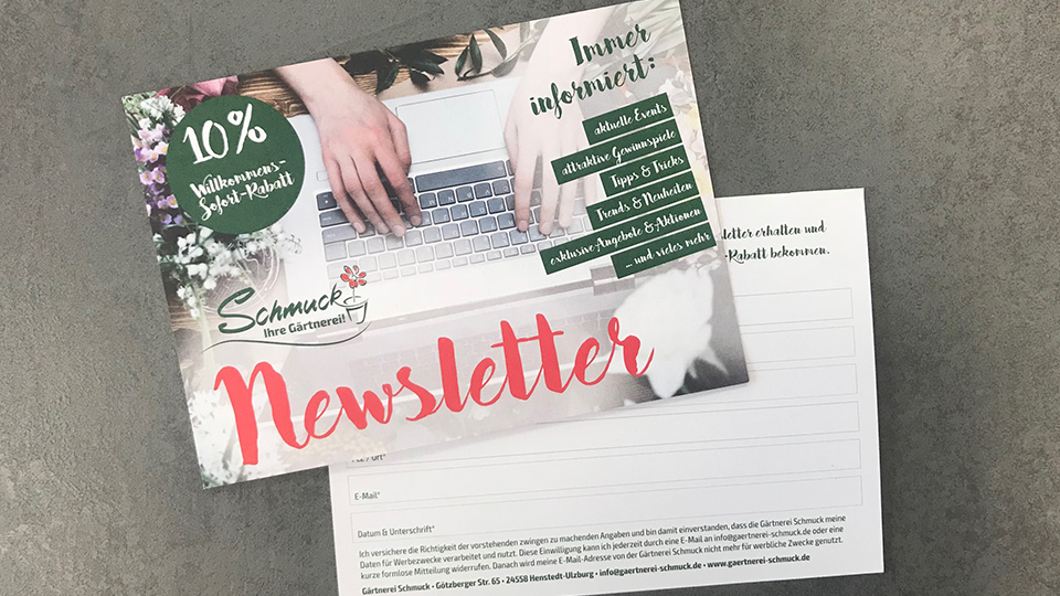 Immer up to date ! - Unser Newsletter