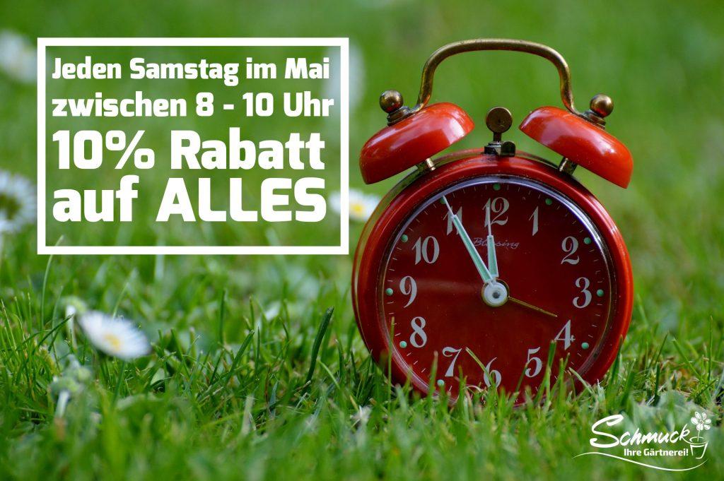Vorfreude auf den Sommer! - Frühaufsteher-Rabatt im Mai 2021
